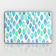 Watercolor Leaf Pattern … Laptop & iPad Skin