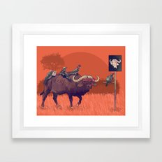 I'll take the buffalo Framed Art Print