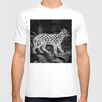 Forest Panther Mens Fitted Tee White SMALL