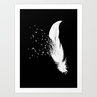 Birds Of A Feather (Blac… Art Print