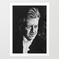 Portrait of David Lynch Art Print