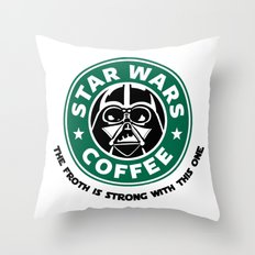 Star Wars Coffee Throw Pillow