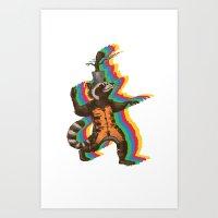 Dancing Critters Art Print