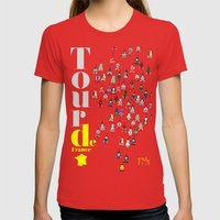 Tour De France Womens Fitted Tee Red SMALL
