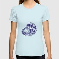 Irn Bru can pen drawing (blue) Womens Fitted Tee Light Blue SMALL