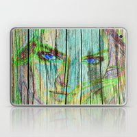 Woman On Wood Laptop & iPad Skin