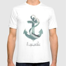 Be my Anchor Mens Fitted Tee SMALL White