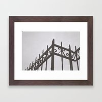 on the fence Framed Art Print