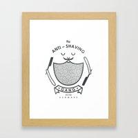 Anti-shaving Gang Framed Art Print