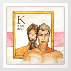 K is for Kishi Art Print