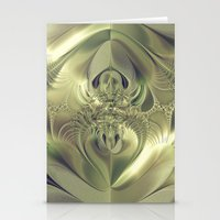 Metallic Leaves Stationery Cards