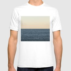 Horizon SMALL White Mens Fitted Tee