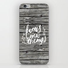 Focus on new things iPhone & iPod Skin