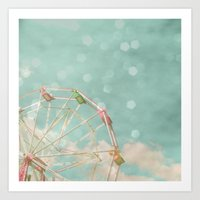 Candy Wheel Art Print