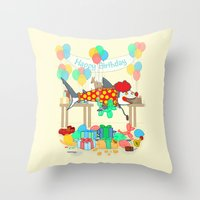 The Birthday Party Clown… Throw Pillow