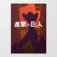Shingeki No Kyojin (Atta… Canvas Print