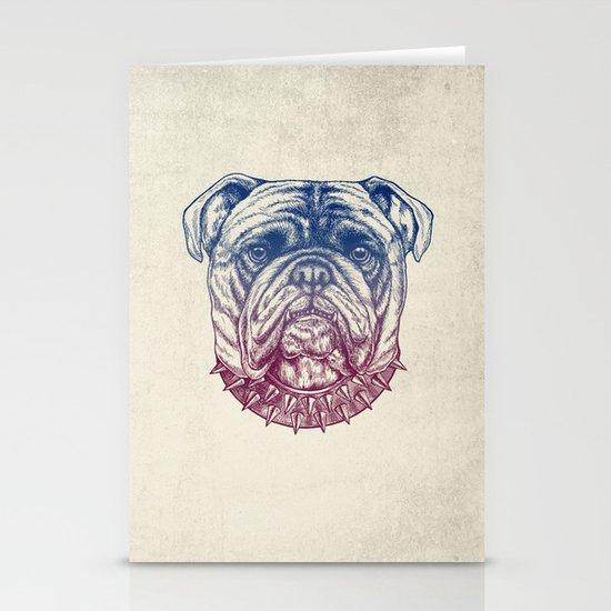 Gritty Bulldog Stationery Card