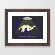 Abducted By Sadness Framed Art Print