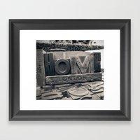 Letters Home Framed Art Print