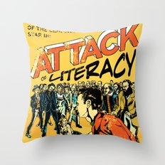 Attack of Literacy Throw Pillow
