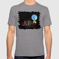 Watching the Moon Mens Fitted Tee Tri-Grey SMALL