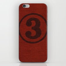 number series: #3 iPhone & iPod Skin