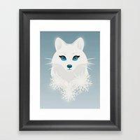 Arctic Fox Princess Framed Art Print