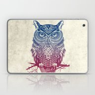 Evening Warrior Owl Laptop & iPad Skin