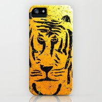 iPhone 5s & iPhone 5 Cases featuring Graffiti Tiger by Mitchell power