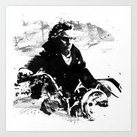 Beethoven Motorcycle Art Print