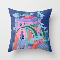 The Seeing House Throw Pillow
