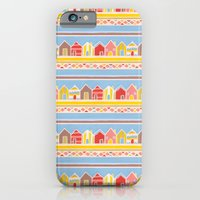 iPhone & iPod Case featuring Beach Huts by Emma Randall