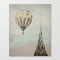 Balloon Over The Chrysle… Canvas Print