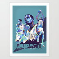 Kevin Durant NBA Illustr… Art Print