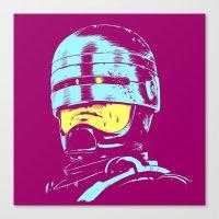 Robocop (neon) Canvas Print