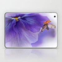 Ladybird on violet Laptop & iPad Skin