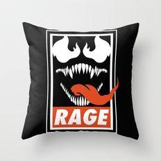 Rage. Throw Pillow