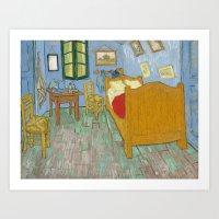 Vincent's Bedroom In Arl… Art Print