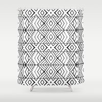 Tribal Expression Shower Curtain
