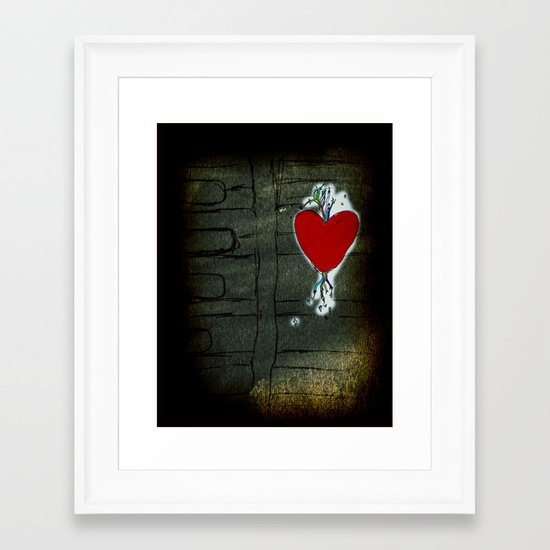 Love Malfunction Framed Art Print