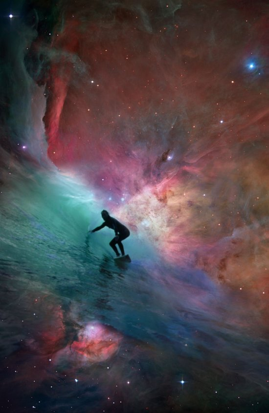 Nebulous Surfing Art Print