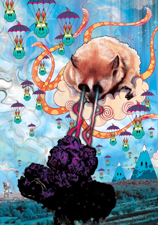 Attack of the Super Furry Animals! Art Print