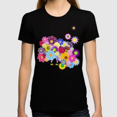 Sunshower Womens Fitted Tee Black SMALL
