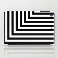 Black And White L Stripe… iPad Case