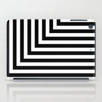 Black And White L Stripe… iPad Case