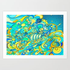 Cosmic Waterfall Art Print