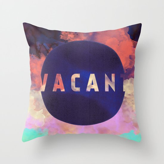 Vacant by Galaxy Eyes & Garima Dhawan Throw Pillow
