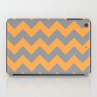 Chevron Orange iPad Case