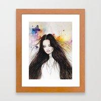 Ariane Watercolour  Framed Art Print