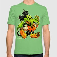 MICKTHULHU MOUSE (color) Mens Fitted Tee Grass SMALL